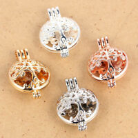 1Pcs Tree Of Life Beads Pearl Cage Locket Pendant DIY Necklace Jewelry Findings