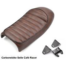 Selle marron vintage custom café racer custom scrambler old dosseret universel