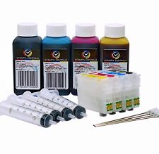 REFILLABLE CARTRIDGES 27 / 27XL FOR PRINTER WORKFORCE WF-7610DTWF + 400ML OF INK