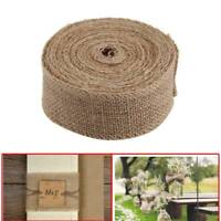 3 Sizes 10M Burlap Roll Jute Cloth Rustic style Rustic Wedding Party Decor UK