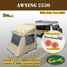 G CAMP 2530 AWNING SIDE TENT POP UP ROOF CAMPER TRAILER 4WD 4X4 CAMPING CAR RACK