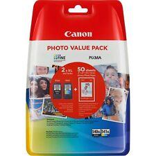 CARTUCCE CANON 5222B013 Pack NERO+COLORI XL+carta fotografica PG-540XL CL-541XL