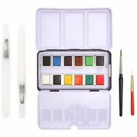 16 Piece Set Travel Size Watercolor Paint for Art and Crafts Painting 12 Colors