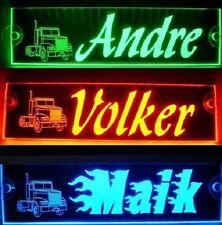 Trucker LKW Namensschild,LED beleuchtet, super Effekt,12V-24V, verschied. Farben