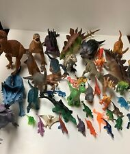 Huge Plastic Toy Dinosaurs Lot Different Sizes And Makers