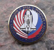NASA Space Shuttle STS 60 Discovery Mir Space Station Mission Tie Pin Badge