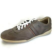 Ecco Gray Leather Lace Up Casual Comfort Sneaker Shoes Mens Size 44 EU 10 US