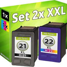 TINTE PATRONEN für HP21XL+HP22XL DeskJet F2180 F2224 F2280 F4100 F4172 F4180