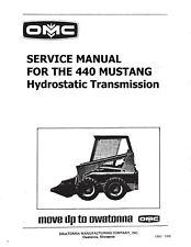 Mustang 440 Skid Loader Hydrostatic Transmission Service Manual