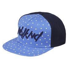 Nebelkind Snapback Cap hellblau blau gepunktet mit Stickerei edel onesize unisex