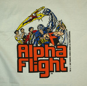 1987 Alpha Flight Marvel Comics Medium T shirt Authentic original single stitch