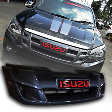 GREY RED LOGO FRONT GRILL GRILLE FIT FOR ISUZU D-MAX DMAX 2012 13 14