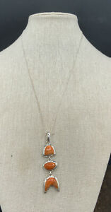 Barse Pisces Necklace- Sponge Coral- Sterling Silver- NWT