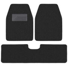 carXS 3pc Black Heavy Duty Carpet SUV Van Pickup Car Floor Mats Front Rear Rug