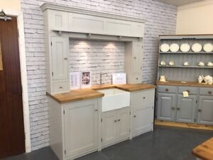 Pine Country Style Painted Over Mantle Kitchen Unit