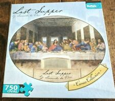 The Last Supper Puzzle 750 Piece Jigsaw Oval Shape Bonus Poster Cameo Collection
