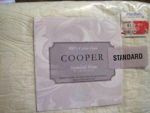 "New~1 Standard Pillow SHAM GREEN Quilted 20"" x 26"" 100% cotton -COOPER"