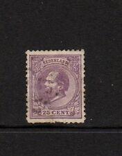 NETHERLANDS 1872 25c LILAC USED