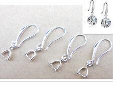 20PC Lot Jewelry Earring Findings Silver Pinch Bail Hook Earwire For Crystal 0