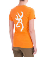 BROWNING Fitted S/S Orange Cotton T-SHIRT S(4-6) M(8-10) L(12-14) XL (16-18) NWT