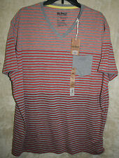 NEW urban PIPELINE Vneck Tee shirt Gray orange red XXL mens soft Cotton blend