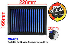 High-Flow Replacement Simota Air Filter for Nissan Almera, Honda Civic ON-003