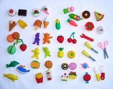 Lot 24 Packages Over 100 pcs Mini Collector Kids Eraser School Supply Wholesale
