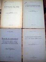 1932 LOTTO DI 4 OPUSCOLI SUL GLUTINE, ORZO, ANALISI CHIMICHE