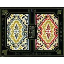 KEM JUMBO DOUBLE DECK PAISLEY PLAYING CARDS SET (2 DECKS)