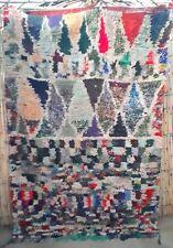 Moroccan boucherouite wool and boucherouite rug  210x 145 cm