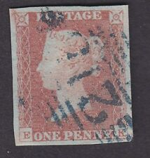 GB QV 1841 1d red very fine 4 marg used IRELAND blue 21(5?) Ennistimon