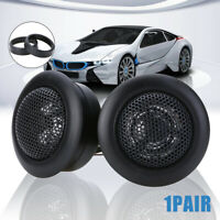 "2Pcs 2""35W Super Power Loud Stereo Dome Tweeter Car Audio Speaker & Adapter Cap"