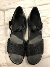 ZIERA BLACK LEATHER MARY JANE SHOES SIZE 38 M Orthopedic Open Toe