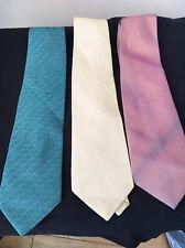 3 fait à la main Thai Silk Ties vert, jaune, rose < T10862