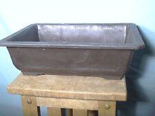Mica Bonsai pot brown Rectangular REB-10 11 x 7.5 x 3.5