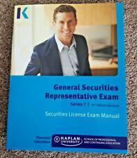 Kaplan Series 7 - General Securities Representative Exam License Manual 10th ed.