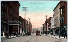 ITHACA, New York  NY    STATE STREET Scene   ca 1910s  Trolley    Postcard