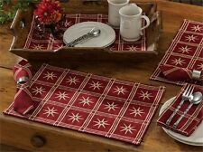 Colonial Williamsburg Virginia Windsor Star Garnet Single Cotton Placemat
