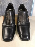 "***Lounge By Mark Nason ""Studded U Rock"" Loafers Black Cross Size 12 Men's***"