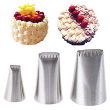 3pcs Basket Weave Tips Icing Piping Nozzle Tips Stainless Steel Tube Nozzle.dr