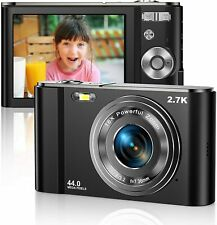 Digital Camera HD 2.7K 44 MP Vlogging Camera with Webcam with 2.8