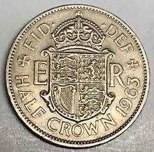 1963 GREAT BRITAIN 1//2 CROWN Britain Half Crown Bin Collectible Coin