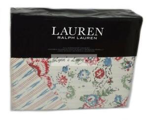 RALPH LAUREN Lucie Floral 3P FULL/ QUEEN DUVET SHAMS SET $300