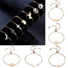 Lovely Owl Elephant Animal Bracelet Bangle Beads Jewlery Adjustable Chain Gift