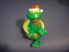 Rare Christmas Kermit the Frog Plastic Fireplace Sitter