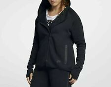 Women's Nike Sportswear Tech Fleece Full-Zip Cape Hoodie Black 1X AH3969 010
