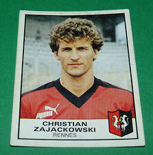 N°252 CHRISTIAN ZAJACKOWSKI RENNES STADE RENNAIS FC PANINI FOOTBALL 84 1983-1984