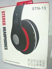 Over-the-Head Stereo Wireless Headsets cell phones ,FM radio. New in box