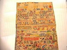 Large Wonderful 19ThC Needlepoint Sampler Dated 1810 Abel Gonzalez