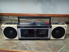 1980s Aiwa AM/FM Aux-In Radio Cassette  CS-W330 Boombox Ghetto Blaster